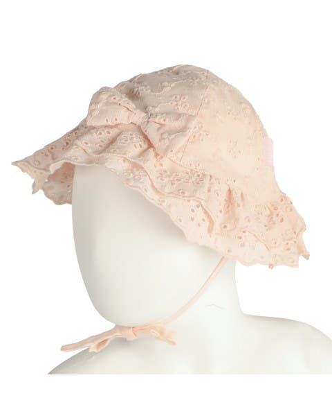 Sombrero Broderie Rosado