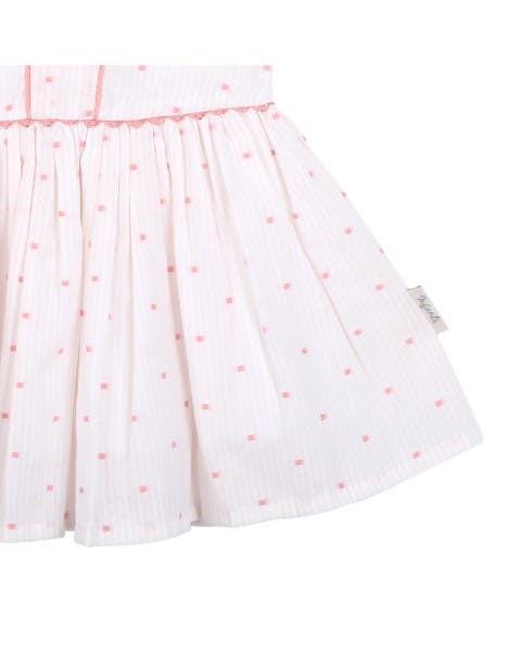 Vestido Rosado con líneas