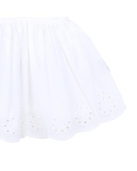 Vestido blanco broderie