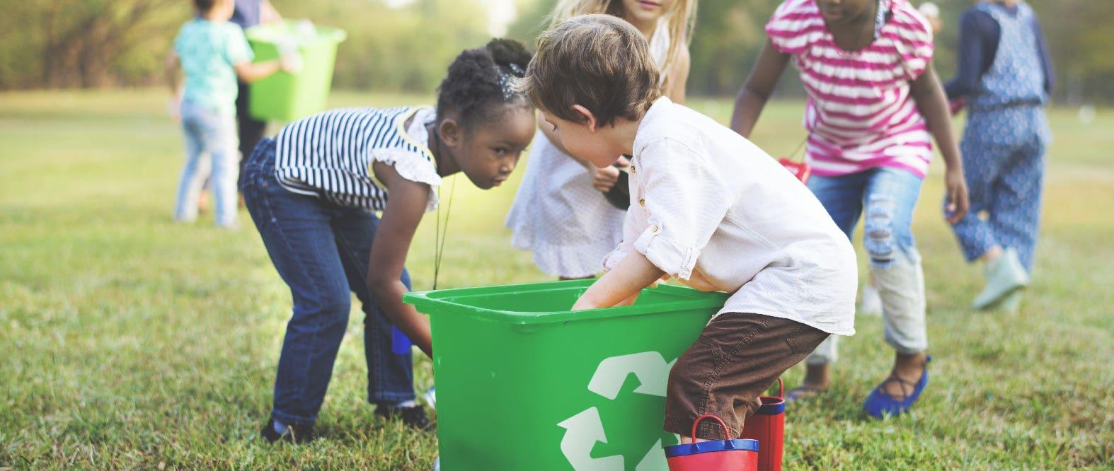 ¿Cómo enseñarle a los niños a reciclar?